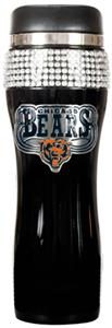 NFL Chicago Bears 14oz Black Bling Tumbler