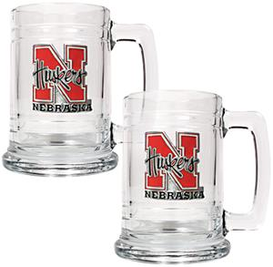 NCAA Nebraska Cornhuskers 2pc Glass Tankard Set