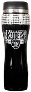 NFL Oakland Raiders 14oz Black Bling Tumbler