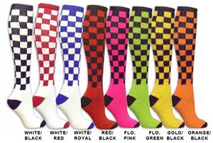 Red Lion Checkerboard Athletic Socks (8 colors)