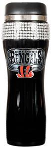 NFL Cincinnati Bengals 14oz Black Bling Tumbler