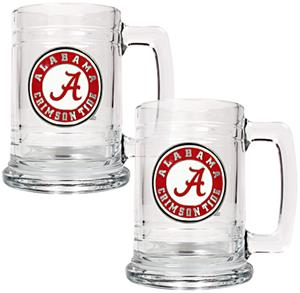 NCAA Alabama Crimson Tide 2pc Glass Tankard Set
