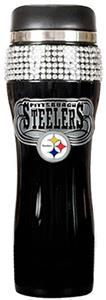 NFL Pittsburgh Steelers 14oz Black Bling Tumbler