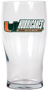 NCAA Miami Hurricanes 20oz. Pub Glass