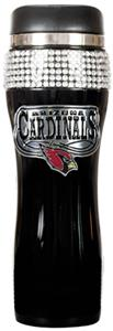 NFL Arizona Cardinals 14oz Black Bling Tumbler
