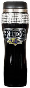 NFL Baltimore Ravens 14oz Black Bling Tumbler
