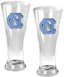 NCAA North Carolina 2pc Premiere Pilsner Glass Set