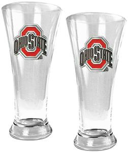 NCAA Ohio State 2pc Premiere Pilsner Glass Set