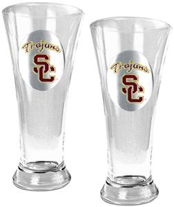 NCAA Trojans 2pc Premiere Pilsner Glass Set