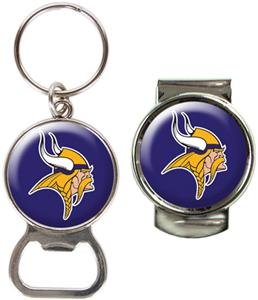 NFL Minnesota Vikings Bottle Opener/Money Clip Set