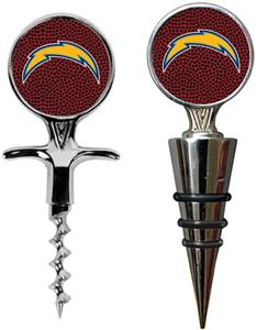 NFL San Diego Chargers Cork Screw/Wine Topper-GB