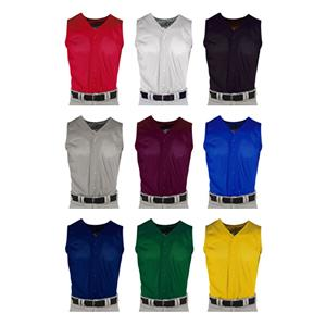 Pro Mesh Adult Full Button Sleeveless Jerseys