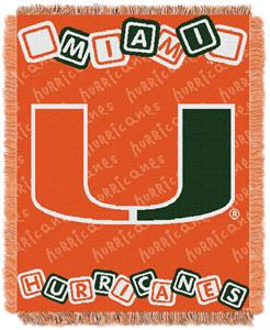 Northwest NCAA Miami Hurricanes Baby Throws