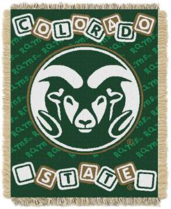 Northwest NCAA Colorado State Rams Baby Throws
