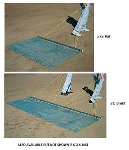 Baseball Infield Drag Mat Plated Steel Mesh