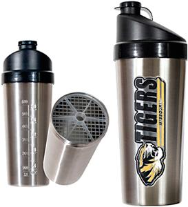 NCAA Missouri Tigers Stainless Protein Shaker