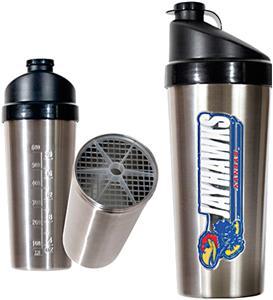 NCAA Kansas Jayhawks Stainless Protein Shaker