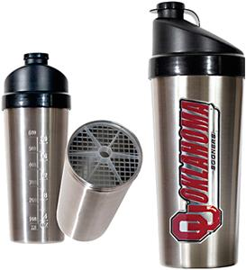 NCAA Oklahoma Sooners Stainless Protein Shaker