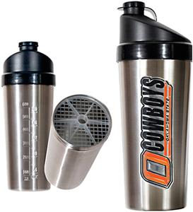 NCAA Oklahoma State Stainless Protein Shaker