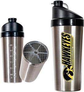 NCAA Iowa Hawkeyes Stainless Protein Shaker