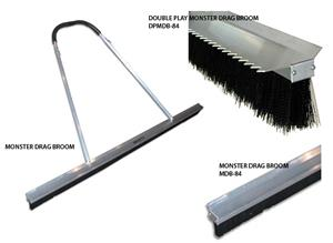 Baseball Double Play Monster Drag Broom & Rake
