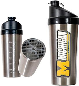 NCAA Michigan Wolverines Stainless Protein Shaker