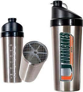 NCAA Miami Hurricanes Stainless Protein Shaker