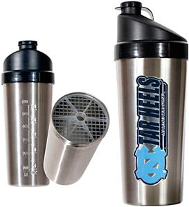 NCAA North Carolina Stainless Protein Shaker