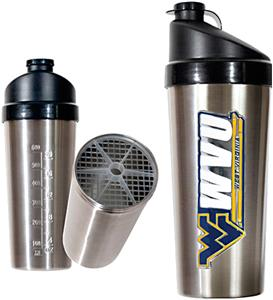 NCAA West Virginia Stainless Protein Shaker
