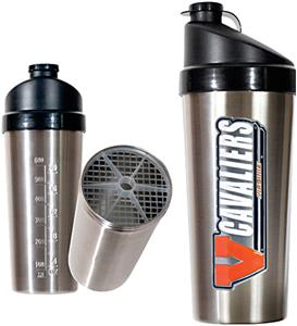 NCAA Virginia Cavaliers Stainless Protein Shaker