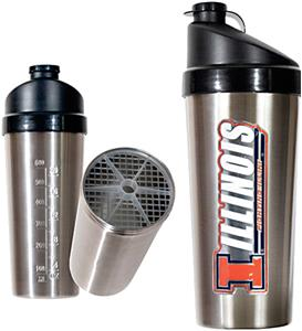 NCAA Fighting Illini Stainless Protein Shaker