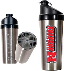NCAA Nebraska Cornhuskers Stainless Protein Shaker