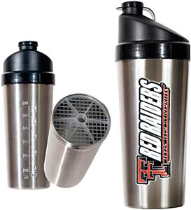 NCAA Texas Tech Stainless Protein Shaker