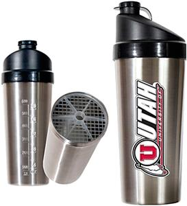 NCAA Utah Utes Stainless Protein Shaker