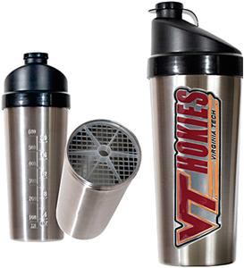 NCAA Virginia Tech Hokies Stainless Protein Shaker