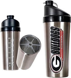 NCAA Georgia Bulldogs Stainless Protein Shaker