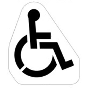 Newstripe Parking Lot Handicap Symbol Stencil