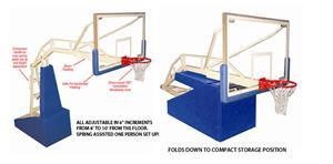Jaypro Elite 5400 Portable Indoor Basketball Goal - Basketball ...