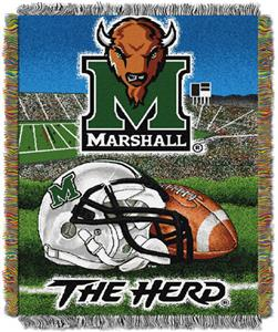 Northwest NCAA Marshall Univ HFA Tapestry Throws