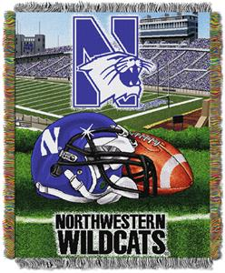 Northwest NCAA Northwestern HFA Tapestry Throws