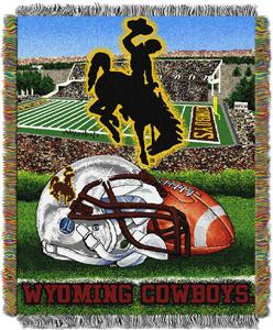 Northwest NCAA Wyoming Cowboys HFA Tapestry Throws