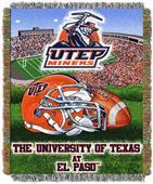 Northwest NCAA UTEP Miners HFA Tapestry Throws