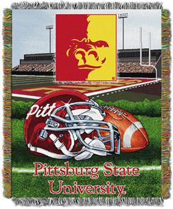 Northwest NCAA Pittsburgh State HFA Tapestry Throw