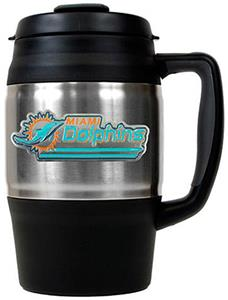 NFL Miami Dolphins 34oz Thermal Travel Mug