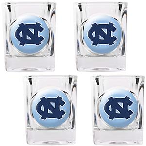 NCAA North Carolina 4pc Square Shot Glass Set