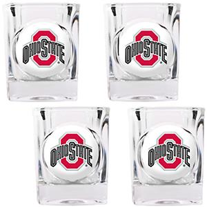 NCAA Ohio State Buckeyes 4pc Square Shot Glass Set