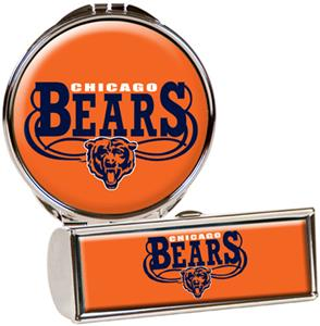 NFL Chicago Bears Lipstick Case/Compact Mirror Set