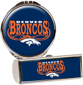 NFL Denver Broncos Lipstick Case/Compact Mirror