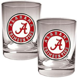 NCAA Alabama Crimson Tide 2pc Rocks Glass Set