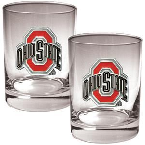 NCAA Ohio State Buckeyes 2pc Rocks Glass Set